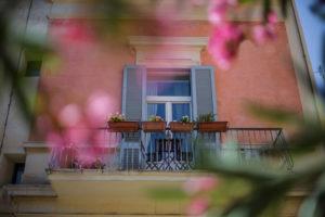 nuvole barocche balcone fiori